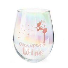 ONCE UPON WINE Aurora Rainbow in a Glass Dazzling Decal Stemless Wine Glass
