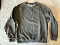 vtg Nike Gray Tag Small Mini Swoosh Crewneck Sweatshirt Men's SZ L