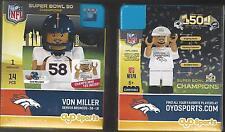 Von Miller 2015 Super Bowl 50 Champions Oyo Mini Figure Denver Broncos G3S5