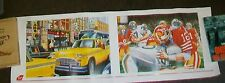 VIRGIN ATLANTIC ADVERTISING PRINTS. NEW YORK CHECKER CAB MIAMI AMERICAN FOOTBALL