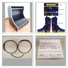 BARTOP ARCADE MACHINE 18MM MDF MFMDF (melamine) +VINYL SET +PERSPEX KIT +T-MOLD