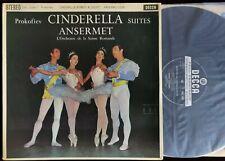 Audiophile Ansermet Prokofiev Cinderella Suites 2LP Decca SXL 2306 & 2307 ED1