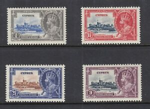 CYPRUS GEORGE V  SILVER JUBILEE OMNIBUS ISSUE 136-39 VERY FINE MINT
