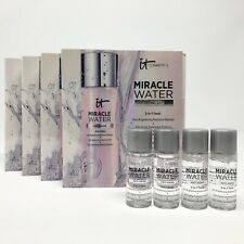 4x IT Cosmetics Miracle Water Anti-Aging 3in1 Tonic Cleanser .29oz ea Mini Size