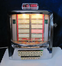 Working Seeburg S-3W160 Wallbox Jukebox Shiny Chrome #1632 - 160 Selections