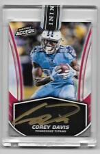 2017 Panini Instant Access Corey Davis All RC On-Card Gold Autograph 19/25