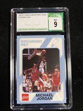 1989 North Carolina Michael Jordan Collegiate Collection Rookie CSG MINT 9 #13