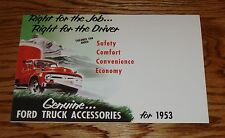 1953 Ford Truck Accessories Brochure 53 F-100 F-250 Pick Up Panel