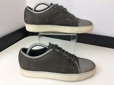 LANVIN Grey Leather Sneakers Trainers Pumps Shoes Size 39 Uk 5