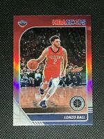 2019-20 NBA Hoops Premium Stock - Lonzo Ball base #116 RED PRIZM - Pelicans