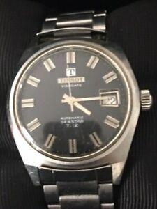 Tissot Visodate Vintage Mans Watch Aut Seastar T12 Stainless Steel day Black Fac