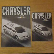 CHRYSLER Grand Voyager 2.4 2.5 3.3 SE CRD LX Limited UK Brochure Price List 2001