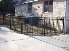 90 LINEAR FEET of 4' HIGH x 6' WIDE GEORGIA STYLE ALUMINUM FENCE w/POSTS & CAPS