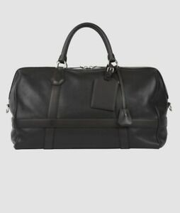 Dunhill Bag 100% Leather Boston Small Hold-all  BNWT Black RRP £1895