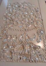 VINTAGE CHANDELIER / LAMP PRISM LOT,CRYSTAL/ GLASS MIX OVALS,HEADS.SUNCATCHER