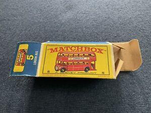 Lesney Matchbox #5 London bus original box. Box only. Free shipping