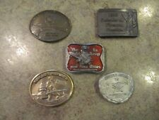 5 NRA National Rifle Association Vintage Belt Buckle Set John Wayne Etc