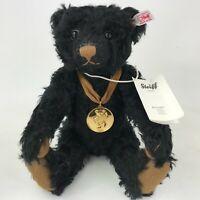 "Steiff Danbury Mint 2014 Bear Of The Year Teddy Bear Black Medallion 12"" 664489"