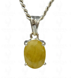 6 CTS YELLOW SAPPHIRE GEMSTONE STUDDED LOCKET IN 925 STERLING SILVER SP011075