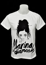 White crew T-Shirt Marina and the Diamonds punk rock 100% cotton Tee size L