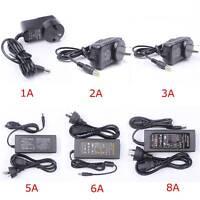 12V 1A 3A 5A 6A 8A Adapter Power Supply Transformer For LED Strip Light AU Plug