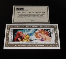 1995, MADAGASCAR, MARILYN MONROE, LIMITED EDITION 5000fmg SOUVENIR SHEET, W/COA