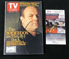 James Gandolfini Signed Sopranos TV Guide Magazine JSA COA