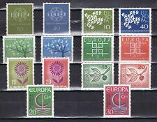 Europa CEPT Duitsland 1959-1961-1962-1963-1964-1965-1966 cat waarde € 5,80