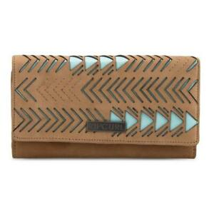 Rip Curl ECLIPSE RFID LEATHER Wallet Womens Purse New - LWLBP1 Tan