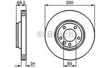 BOSCH Disco de freno (x1) 350mm ventilado VOLKSWAGEN TOUAREG BMW 0 986 479 249