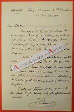 L.A.S 1910 Joseph CHAUMIE Ministre Justice à Henry ROUJON - Agen Dreyfus Lettre