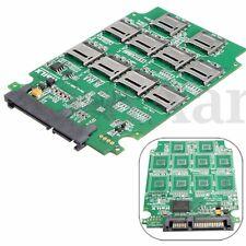 10Pcs Micro SD TF Flash Memory Card to SATA SSD Adapter RAID Quad Converter PC
