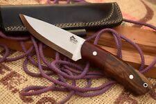 """SPECIAL BUSH CRAFT KNIFE-BEAUTIFUL HAND FORGED 9.5"""" WITH WOOD HANDLE AND SHEATH"""