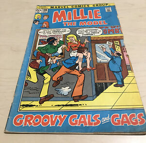 MILLIE THE MODEL #198 (5.5-6.0) Groovy Gals And Gals/1972/Marvel Comics