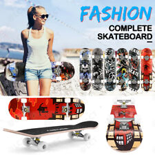 "Kids Trick Complete Skateboard 31""x 8"" Double Kick Concave Skateboards Gift Fun"