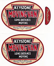 "KEYSTONE  MOVING VAN DECAL SET-4 3/4"" W X 3 3/8""H"