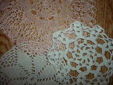 10 x Napperon broderie au crochet de dentelle belle Fait à la main À 1900