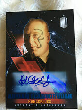 Topps Doctor Who Timeless 2016 Blue Autograph Card Adrian Scarborough 42/50