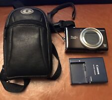 Canon PowerShot SX200IS•12.1MP Digital Camera •Black With Charger And Case