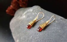 HANDMADE! Garnet Gemstone Earrings 10108
