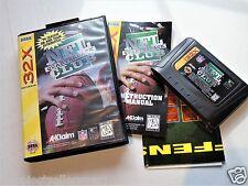 NFL Quarterback Club 32X Complete Sega Genesis Video Game System Poster