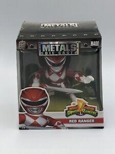 "Jada Toys Metals Power Rangers 4"" Classic Figure Red Ranger M400 new box Diecast"