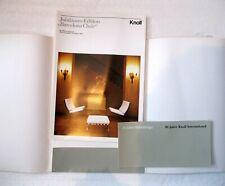 Prospekt Knoll International 30 Jahre 1981 Barcelona Chair ltd. Edition