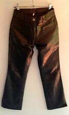 Real Soft Leather Trousers UK8; Rock N Roll Wardrobe London; fit like APC Jeans