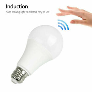 E27 Radar Motion Sensor LED Celling Bulb Light Night Lamp Cool White 7W 9W 12W