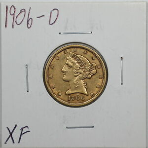 1906-D $5 Liberty Head Gold Half Eagle in XF Condition #05652