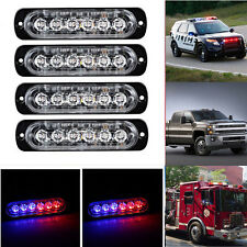 4X6LED Car Flash Emergency Hazard Warning Strobe Light Bar Red & Blue 18W 12-24V