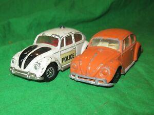 2 Corgi Whizzwheels Volkswagen 1200 Beetles for renovation
