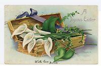 """""""Joyous Easter"""" Antique CLAPSADDLE A-S PC Flowers ca. 1909"""