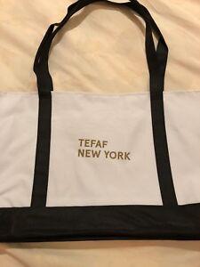TEFAF New York Canvas Tote Bag Black/White NEW